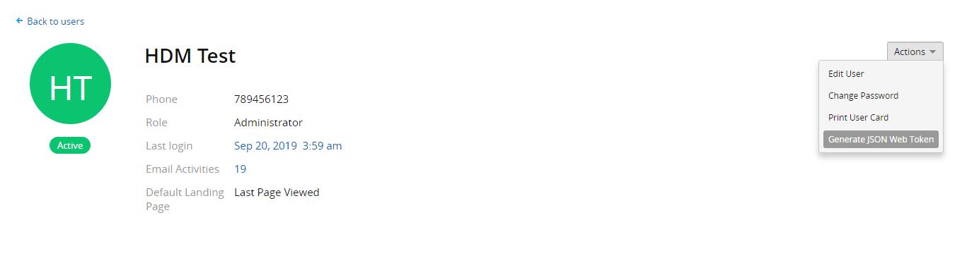 Samanage API token