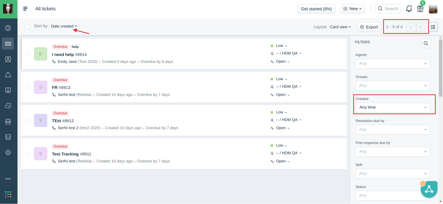 calculating the number of tickets in freshdesk