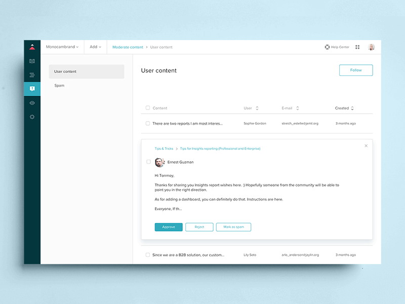 Zendesk Guide view