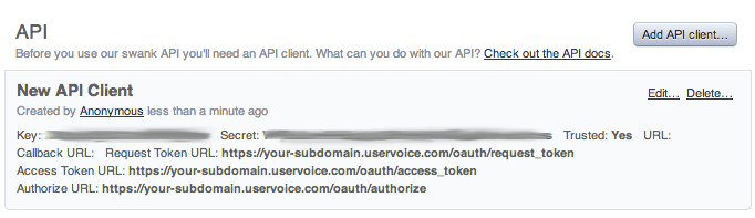 Find your UserVoice API key