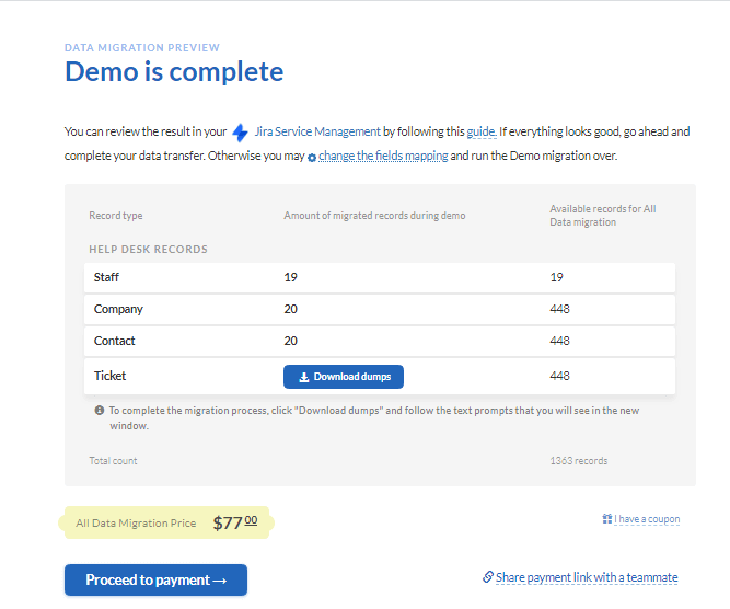 jira service management demo results
