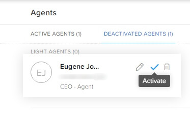 Re-activate agents in Zoho Desk