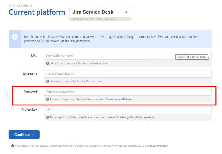Jira Service Desk migration