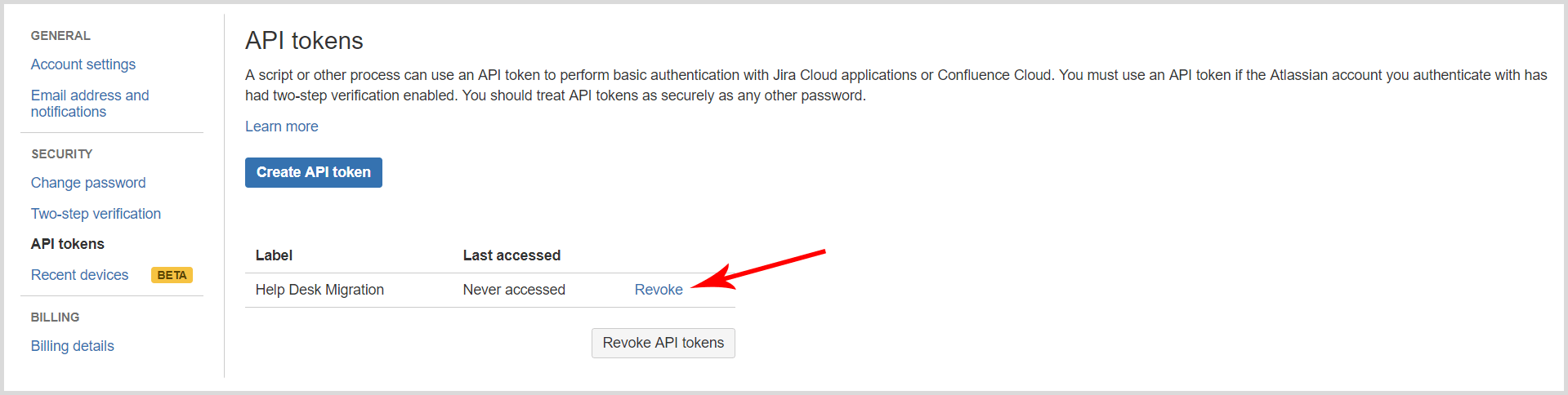 How to generate and when to use Jira Cloud API token? - Help Desk
