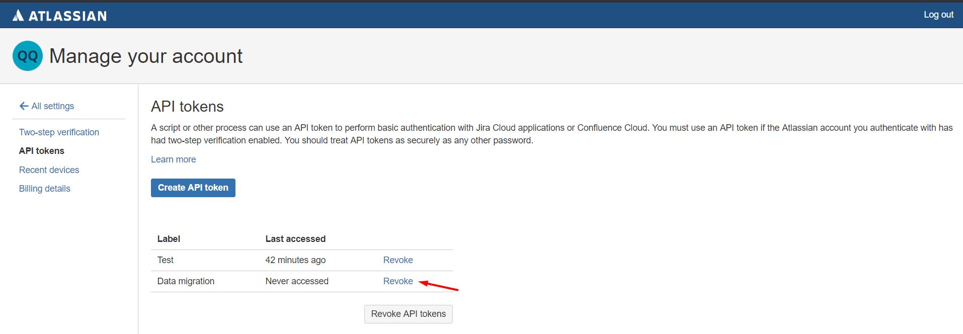 Jira Servcie Desk API token
