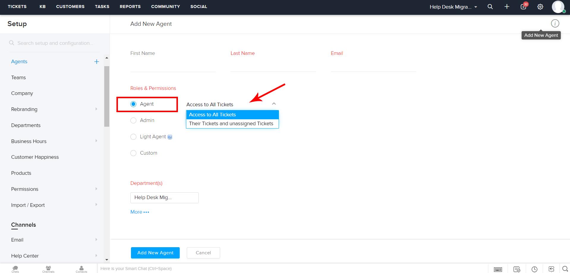 users zoho desk