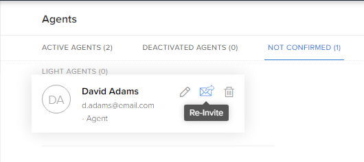 Re-inviting agents in Zoho Desk