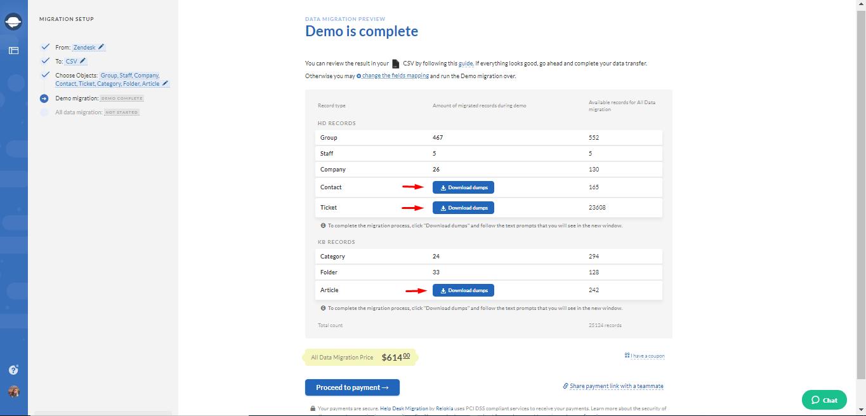 csv data export