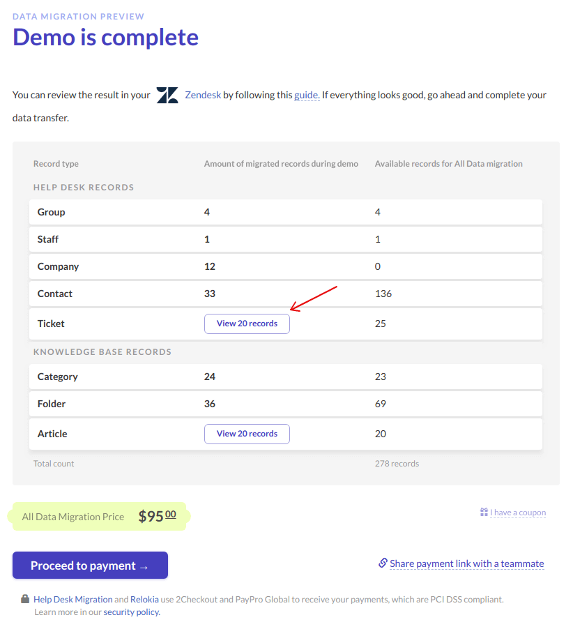 How To Check The Result Of Demo Migration In Zendesk