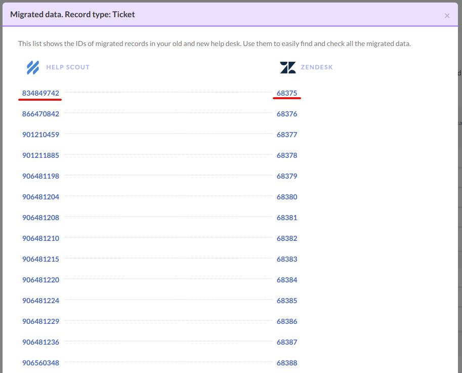 Check Zendesk demo result