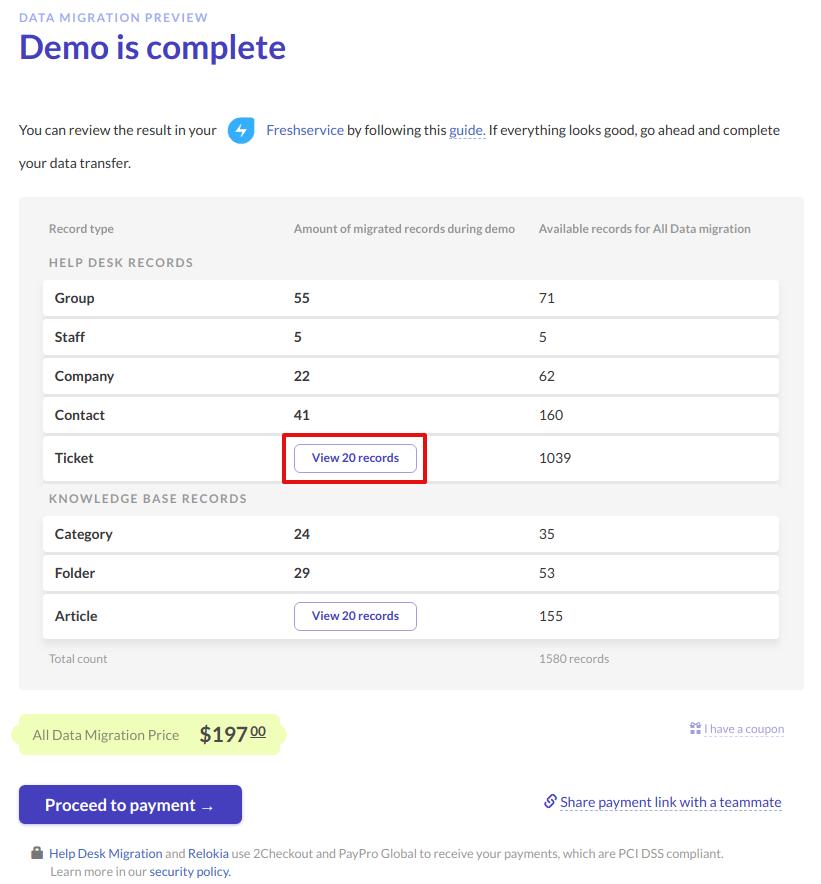 Freshservice demo preview