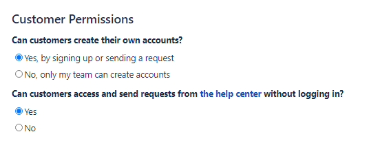 jira service management customer permissions