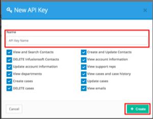 FuseDesk create new api key