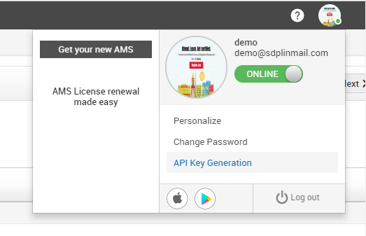 servicedesk plus API key