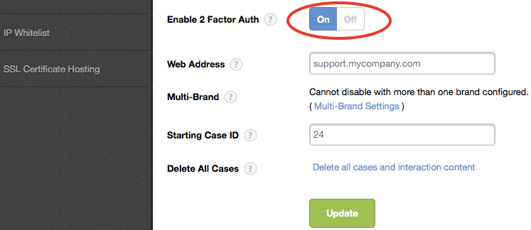 How to disable Two-Factor Authorization in Desk.com