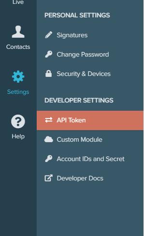 Re:amaze API token