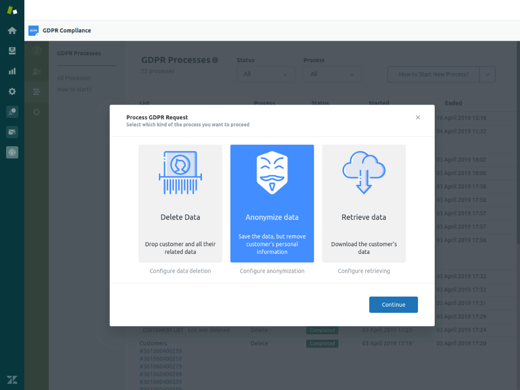 GDPR Compliance for Zendesk Screenshot 2