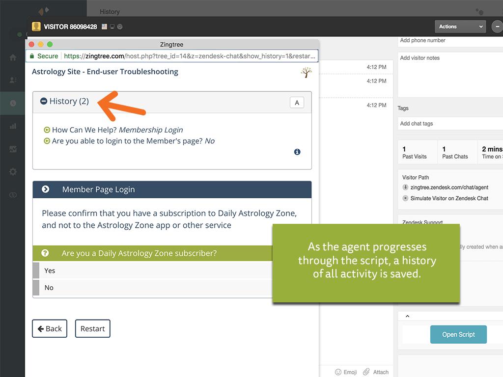 Agent Scripting for Zendesk Screenshot 3