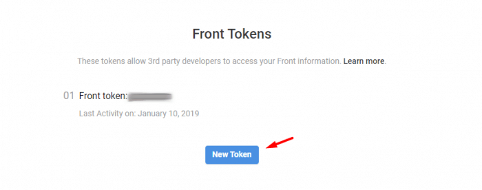 Find Front Tokens
