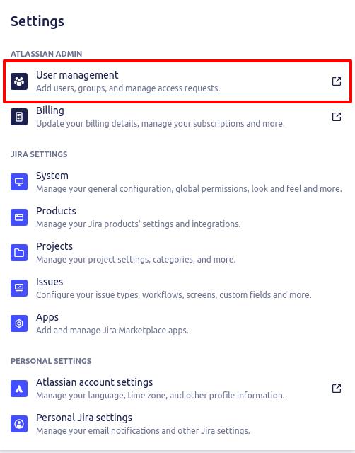 jira service management user management