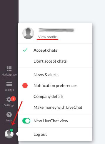 Find LiveChat API key
