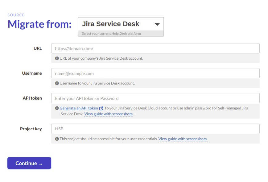 Link your Jira Service Desk