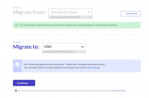 Migrate from Jira Service Desk to CSV