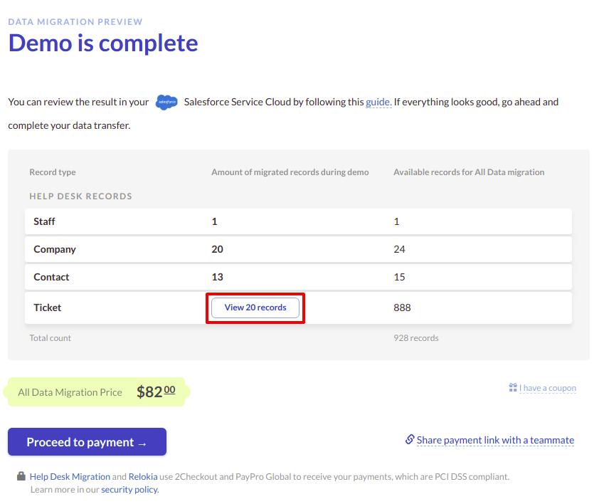 Salesforce Demo Result