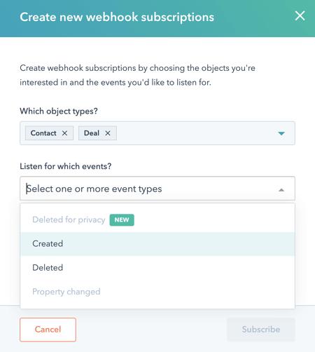 Webhooks in HubSpot