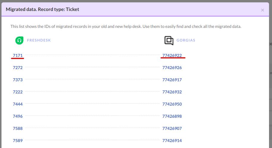 ticket id gorgias