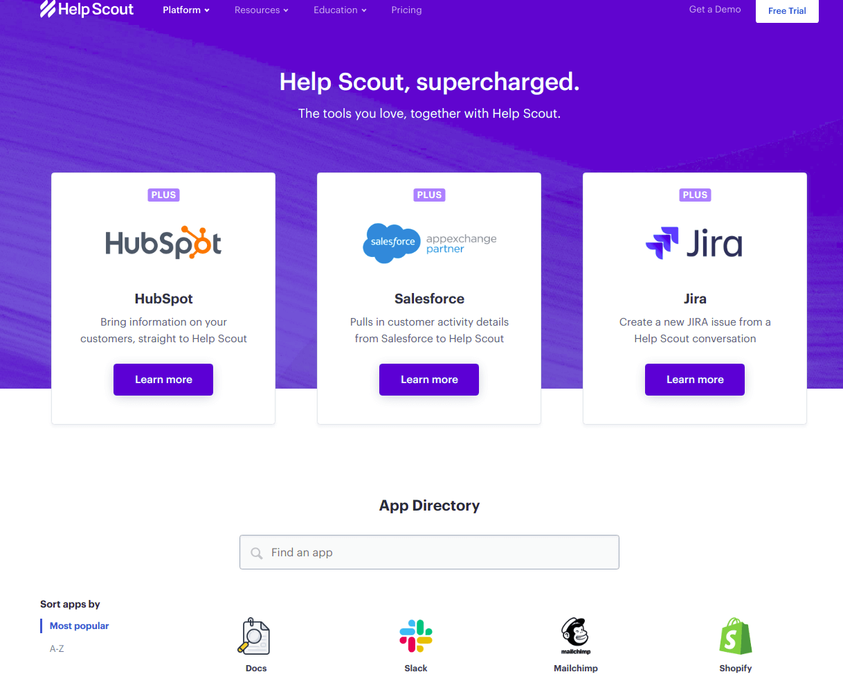 Help Scout apps and integrations