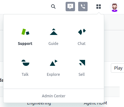 Zendesk Products Menu