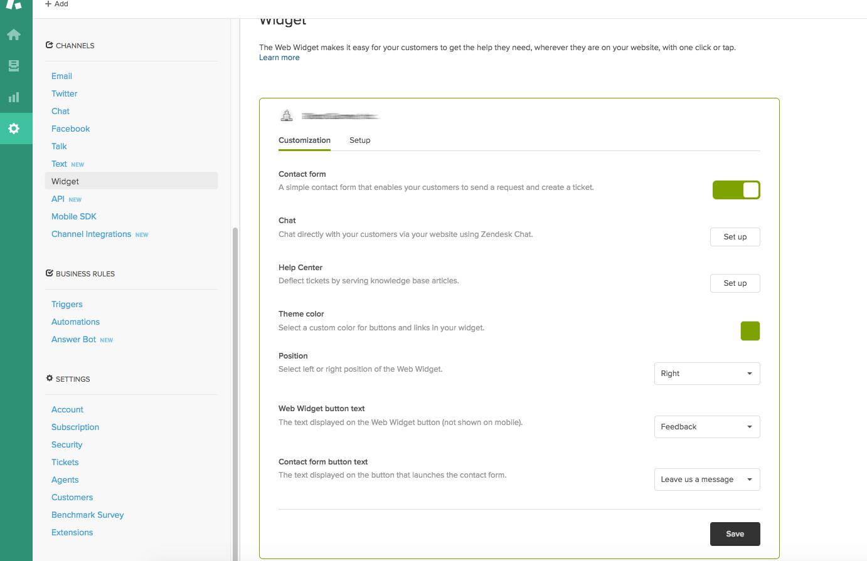 Zendesk customization
