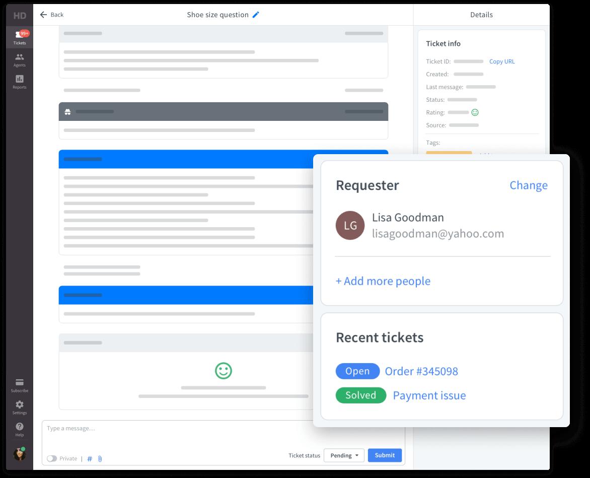 Client details HelpDesk