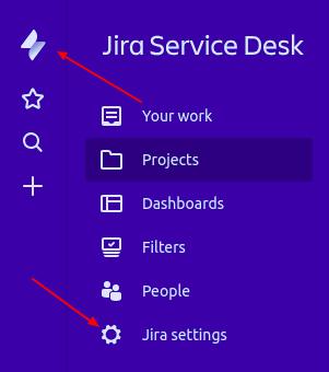Jira service desk settings