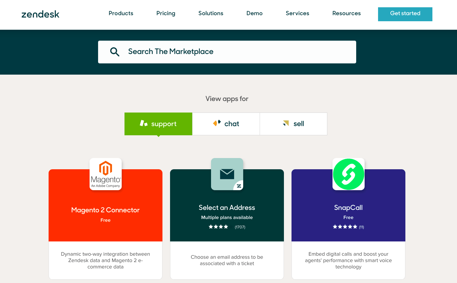 Zendesk marketplace
