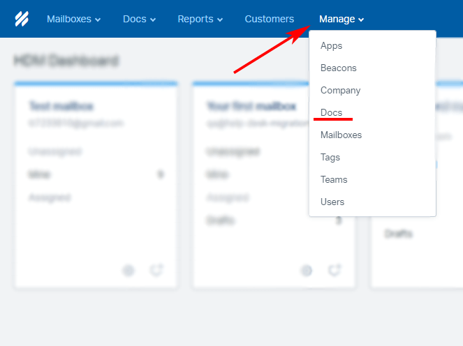 Help Scout managing Docs