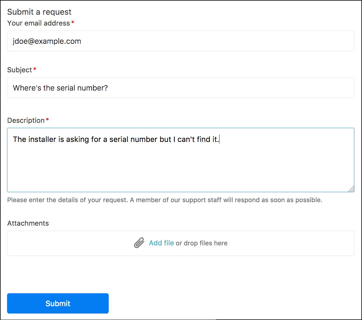Zendesk ticket forms