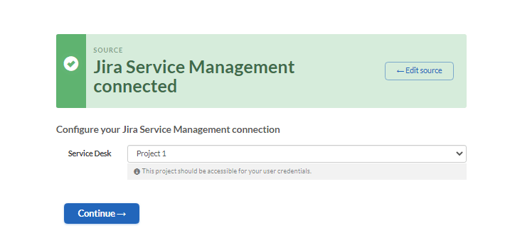 merging jira service management instances