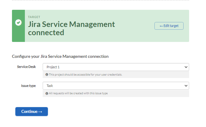 jira service management issue type