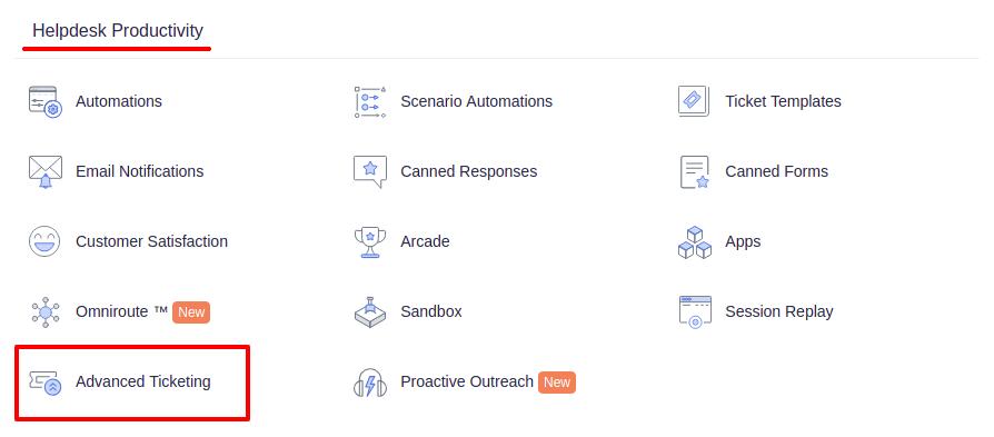Advanced ticketing settings in Freshdesk