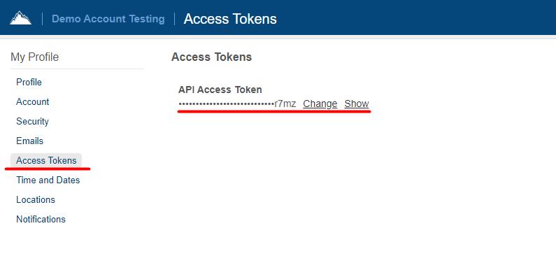 Access tokens in SherpaDesk