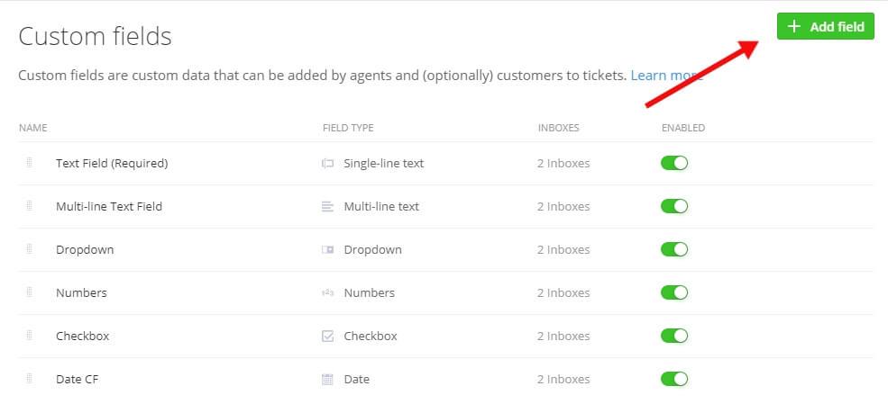 Add new ticket fields in Teamwork Desk