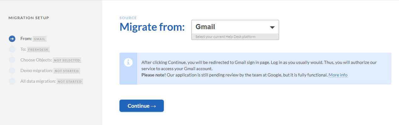 migration from gmail