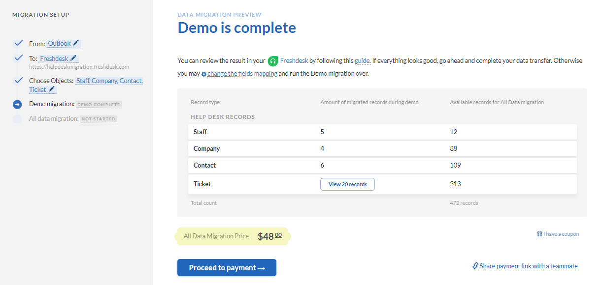 outlook demo results