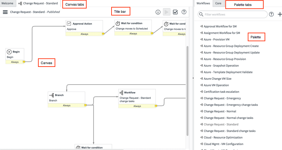 servicenow workflow editor screenshot