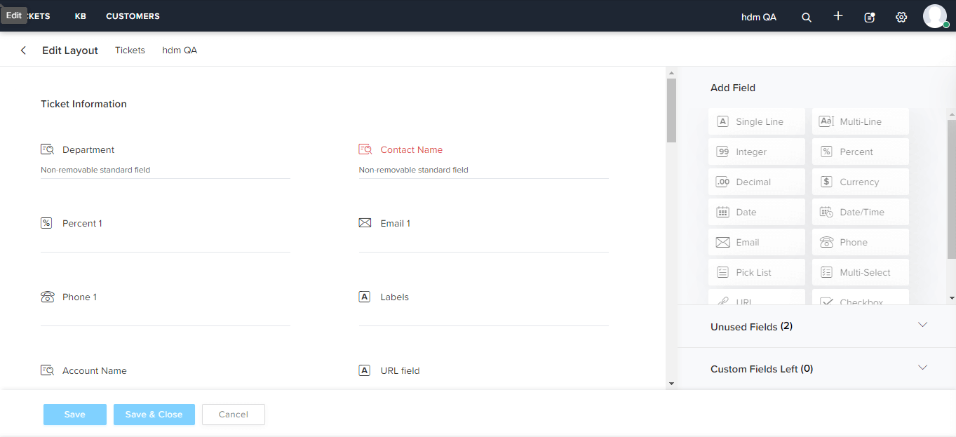 To show the whole interface of creating tickets
