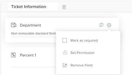 To show the features of customised fields