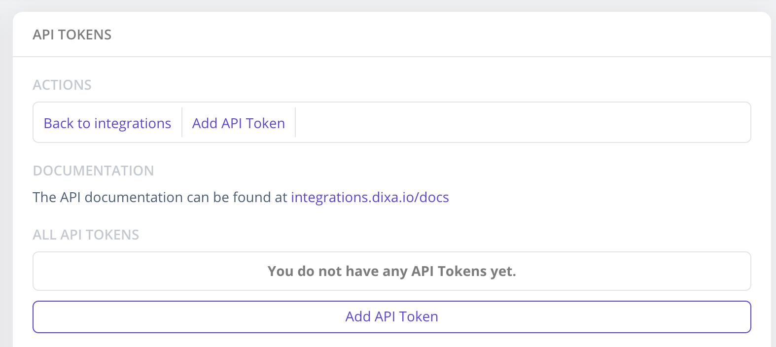 how to generate API token