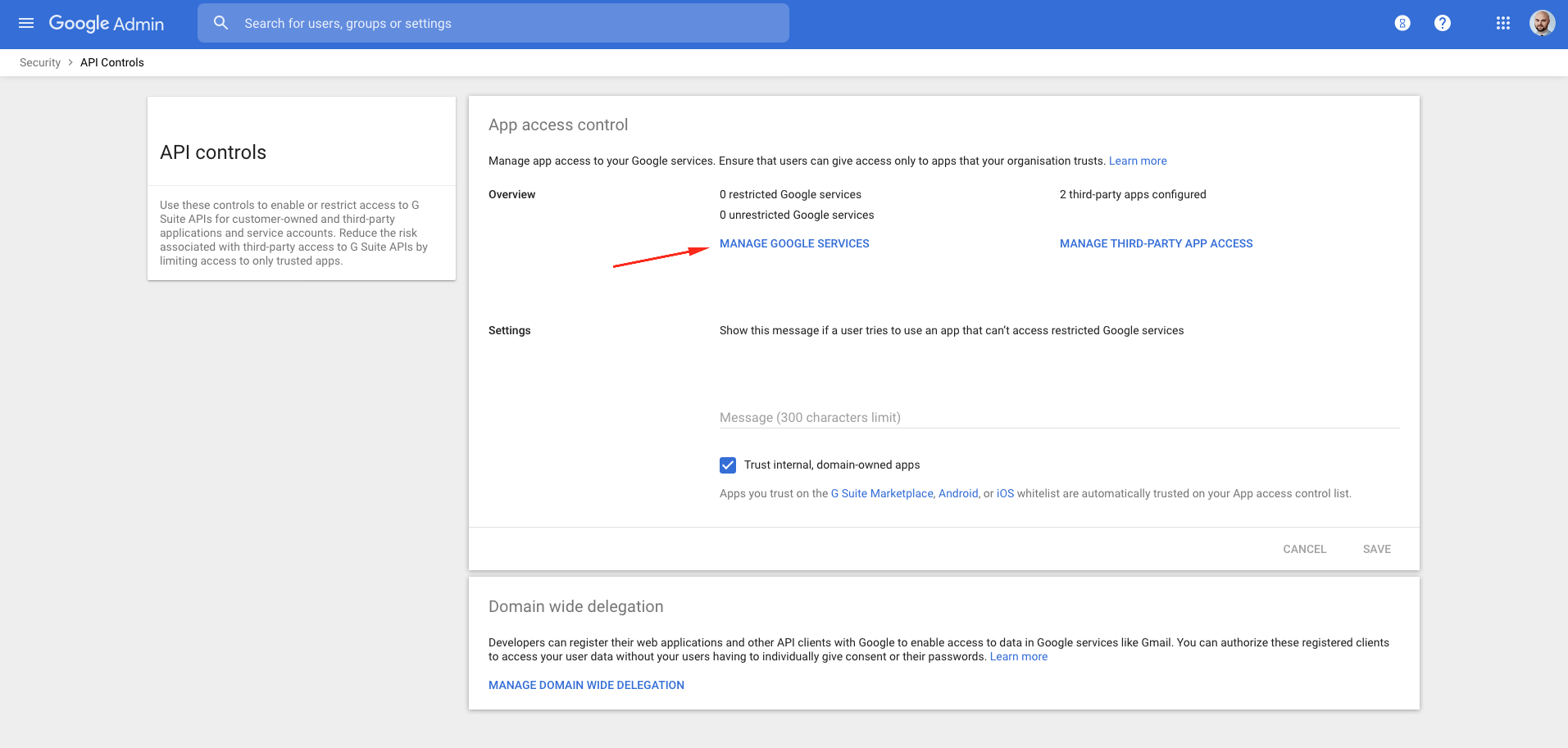managing google services in g suite
